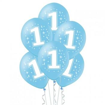 Balony na ROCZEK 6szt niebieskie dla chłopca