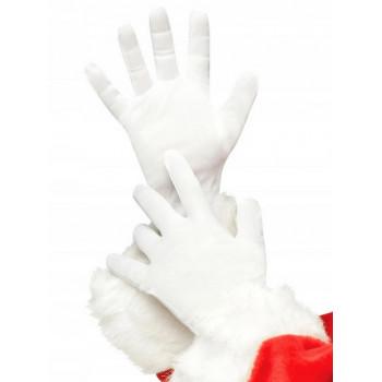 Rękawiczki Św. Mikołaja białe
