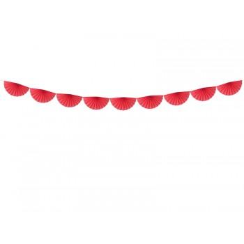 Girlanda bibułowa Czerwony Rozety 3m