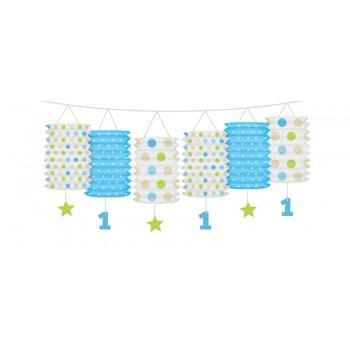 Girlanda z lampionami niebieska na Roczek 3,6m