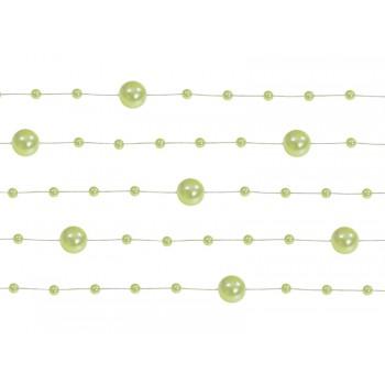 Girlanda jasnozielona Perłowa 5 sztuk po 1,3m