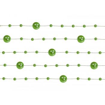 Girlanda zielona Perłowa 5 sztuk po 1,3m