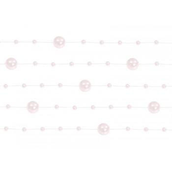 Girlanda jasny różowy Perłowa 5 sztuk po 1,3m