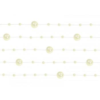 Girlanda kremowa Perłowa 5 sztuk po 1,3m