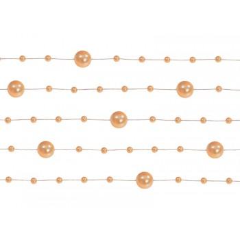 Girlanda pomarańcz Perłowa 5 sztuk po 1,3m