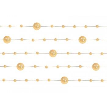 Girlanda pastelowe złoto Perłowa 5 sztuk po 1,3m