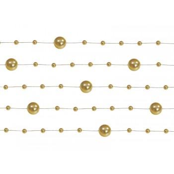 Girlanda złota Perłowa 5 sztuk po 1,3m