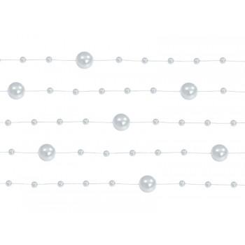 Girlanda srebrna Perłowa 5 sztuk po 1,3m