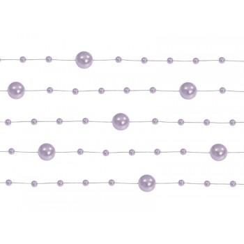 Girlanda liliowy Perłowa 5 sztuk po 1,3m
