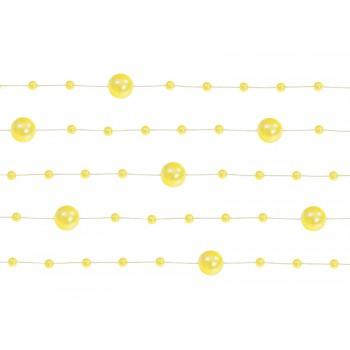 Girlanda żółta Perłowa 5 sztuk po 1,3m