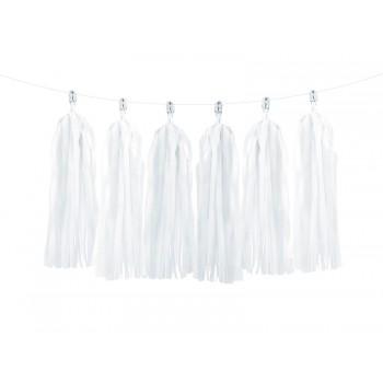 Girlanda biała frędzle 1,5m