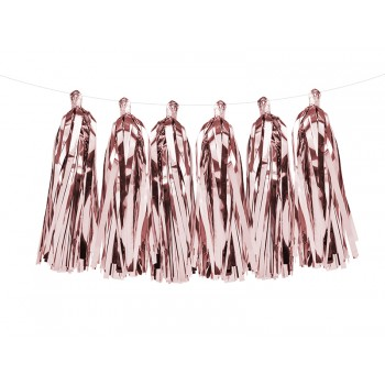 Girlanda różowe złoto Frędzle 1,5m