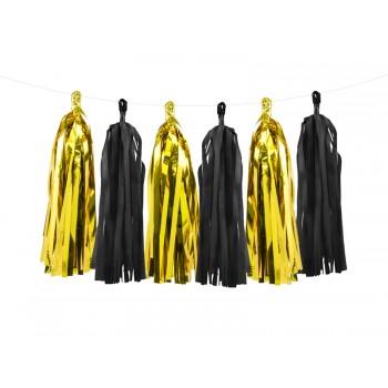 Girlanda złoto-czarna Frędzle 1,5m