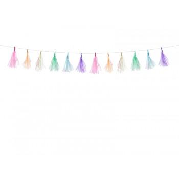 Girlanda mix kolorów Frędzle 1,2m