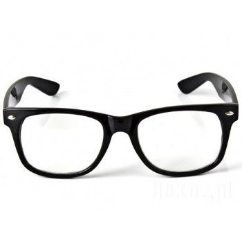 Okulary weyfarer zerówki czarne