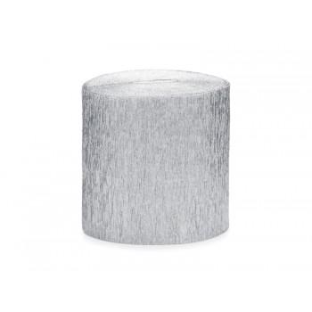 Krepa Bibuła srebrna 5cm/10m 4szt