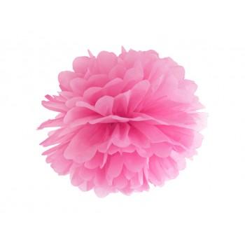 Pompon Bibułowy kolor różowy 25cm