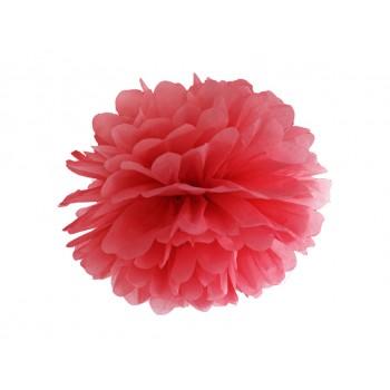 Pompon Bibułowy kolor czerwony 25cm
