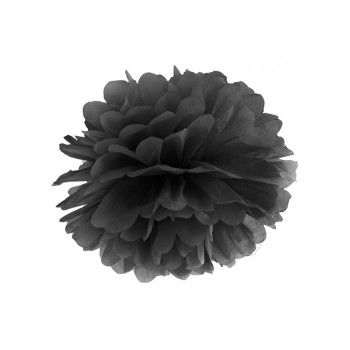 Pompon Bibułowy kolor czarny 25cm