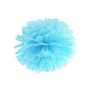 Pompon Bibułowy kolor błękit 25cm