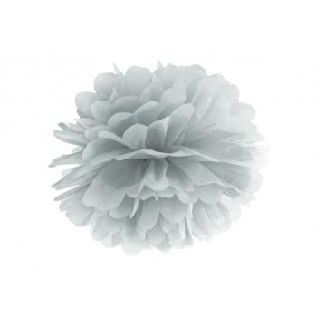 Pompon Bibułowy kolor srebrny 25cm