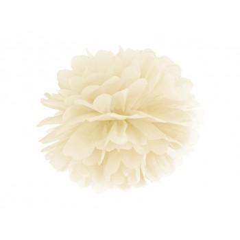 Pompon Bibułowy kolor kremowy 25cm