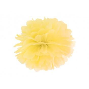 Pompon Bibułowy kolor żółty 25cm