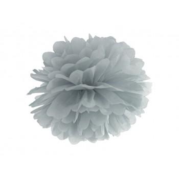 Pompon Bibułowy kolor szary 25cm
