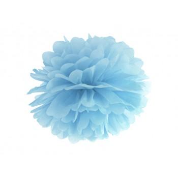 Pompon Bibułowy kolor j.mgl.niebieski 25cm
