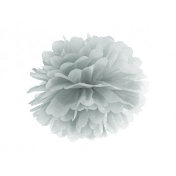 Pompon Bibułowy kolor srebrny 35cm