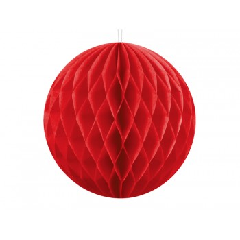 KULA bibułowa Honeycomby czerwony