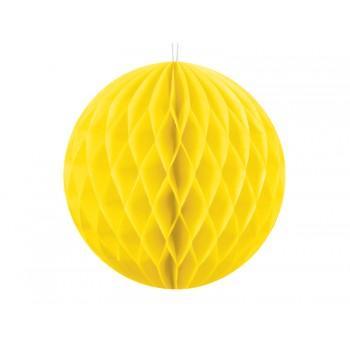 KULA bibułowa Honeycomby żółty