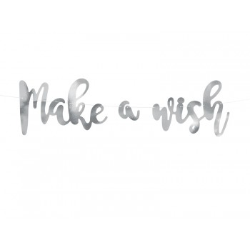 Baner Make a wish - Jednorożec 15 x 60 cm