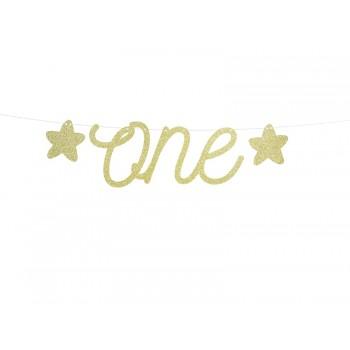 Baner 1st Birthday - One złoty 12 x 50cm