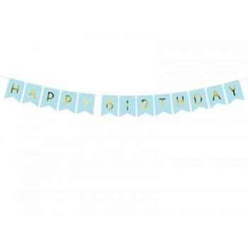 Baner 'Happy Birthday' j. niebieski 15 x 175 cm