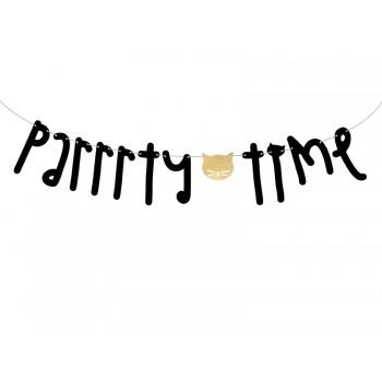 Baner 'Parrrty Time' Kotek 12x130cm
