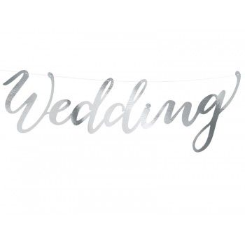 Baner 'Wedding' 16,5 x 45cm