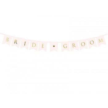 Baner 'Bride Groom' 15 x 155 cm