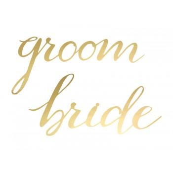 Zawieszki 'Bride Groom' złoty