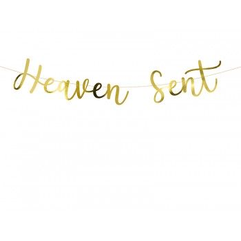 Baner 'Heaven Sent' złoty 14,5x85cm