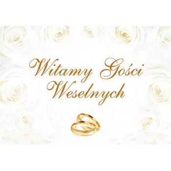 Plakat 'Witamy Gości Weselnych' 58 x 40cm