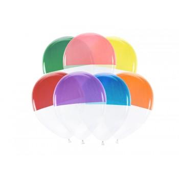 Balony dwukolorowe 7szt 30cm