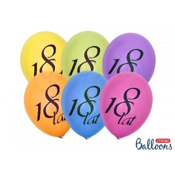 Balony 18 lat Pastel 27cm - 50szt