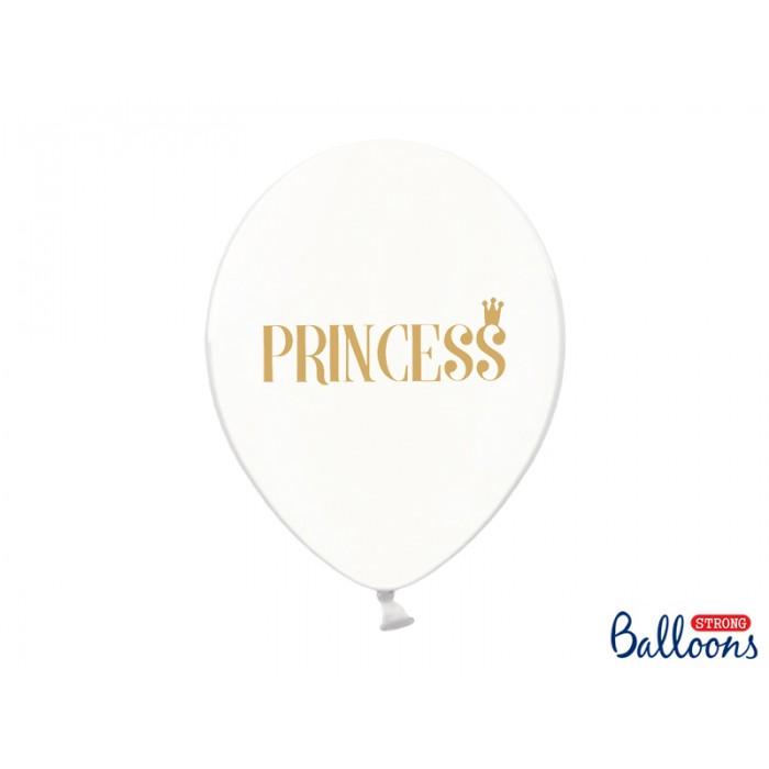 Balony Princess Crystal Clear 30cm - 6szt