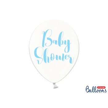 Balony Baby Shower Crystal Clear 30cm - 6szt