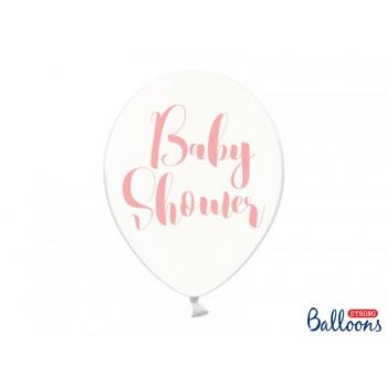 Balony Baby Shower Crystal Clear 30cm - 6szt