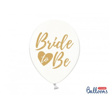 Balony 'Bride to be' Crystal Clear 30cm - 6szt