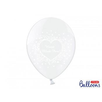 Balony Wiwat Młoda Para! C. Clear 30cm- 50szt