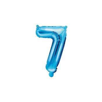"Balon foliowy niebieski 35cm cyfra ""7"""
