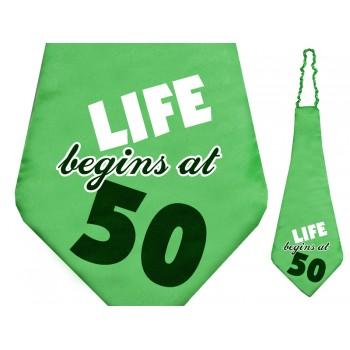 Krawat na 50 urodziny 59cm